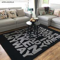 Brief große größe Acryl teppich alfombras Moderne Handgemachte teppiche wohnzimmer Schlafzimmer Mode kreative Kaffee tisch sofa tapete