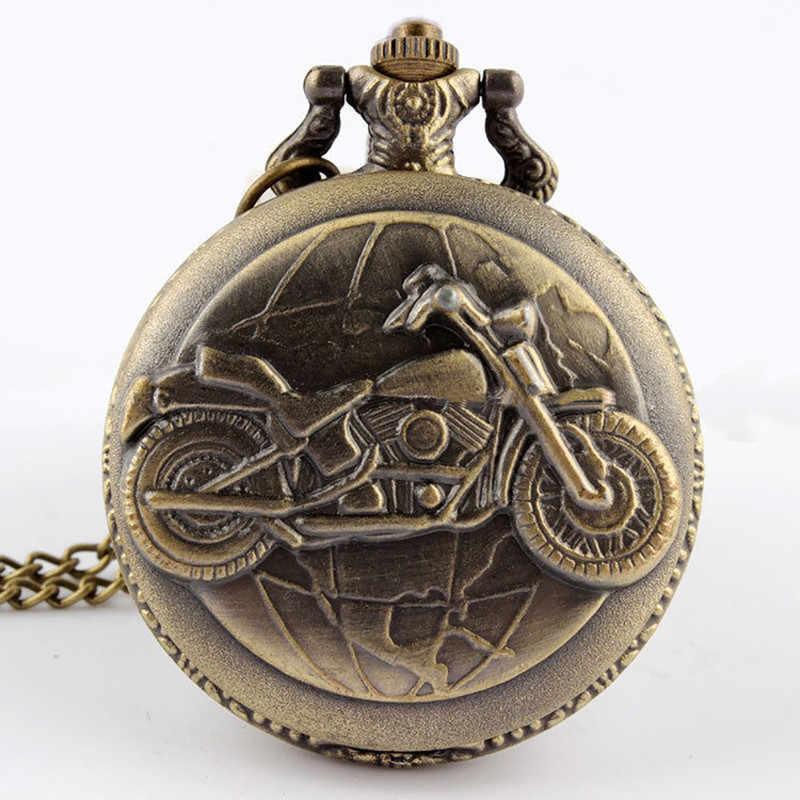 Винтажные крутые мотоциклетные резное открываемое полое стимпанк кварцевые карманные часы для мужчин и женщин ожерелье кулон часы подарки