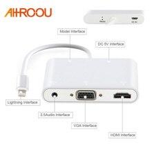 HDTV Cabo Adaptador Para Lightning para HDMI VGA AV de Áudio Vedio Cabo adaptador Para o iphone x 8 7 6 plus Para iPad Air/mini/pro
