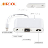 HDTV Adaptor Cable For Lightning To HDMI VGA AV Audio Vedio Adapter Cable For IPhone X