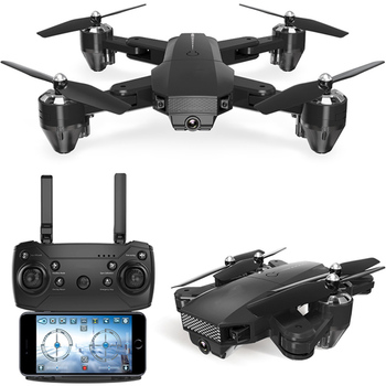 цена на Drone with 720P HD Camera Mode Foldable Cheap RC Helicopters WiFi FPV 100m rtf High Quality quadcopter 1000mah Battery toy gift