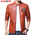 LONMMY L-5XL 2016 Autumn Washed leather jacket men High quality Male leather jacket coat PU brand clothing Slim fit Suede coat