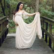 새로운 출산 멋진 사진 촬영 임신 복장 출산 사진 소품 맥시 출산 레이스 출산 복장
