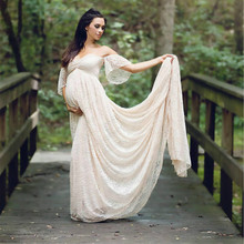 New Maternity Fancy Photo Shooting Pregnant Dress Maternity Photography Props Maxi Maternity Lace Maternity Dress