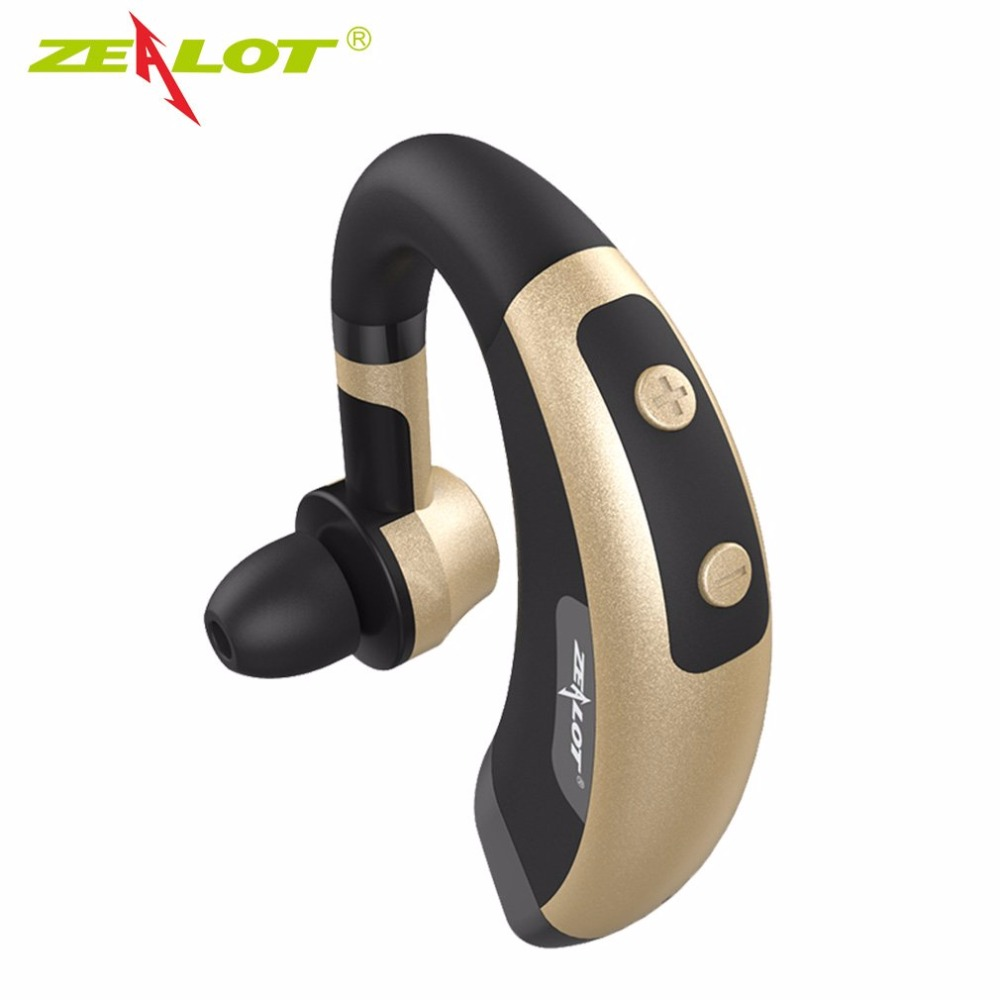 Zealot E1 Wireless Bluetooth Headset Music Headphones Car Driver Handsfree Earphones Ear Hook With Microphone for iPhone Samsung remax 2 in1 mini bluetooth 4 0 headphones usb car charger dock wireless car headset bluetooth earphone for iphone 7 6s android