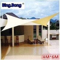 Outdoor Sun Shade Sail 4x6m PU Waterproof 100% Cloth Canvas Awning Canopy Beach Shading Gazebo Toldo Garden Swiming Pool Balcony
