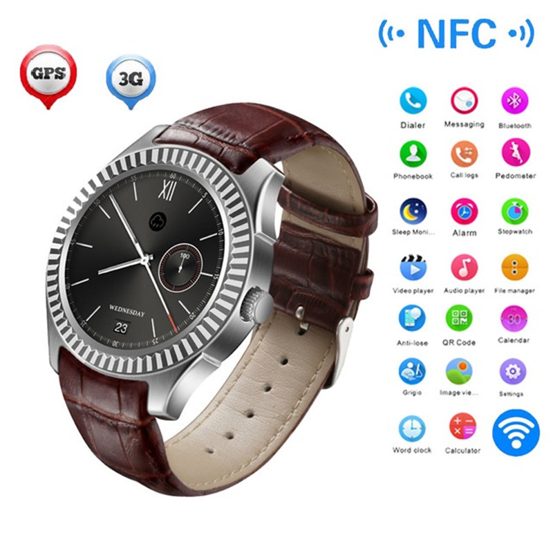 NO.1 D7 Smart Watch 1.3 inch Android 4.4 SIM Smartwatches GPS WIFI 3G Bluetooth Smart Wristwatch 1G 8G Pulse Monitor Dual Core bluetooth 4 0 smart watch android 4 4 sim no 1 d7 smartwatches 500mah gps wifi 3g wearable clock devices heart rate pedometer
