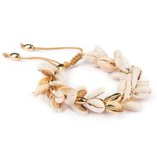 Fashion Boho Bracelet Gold Plating Nature PUKA Shell Moda Hombre Holiday Gifts for Women Tibetan Jewelry SZ008
