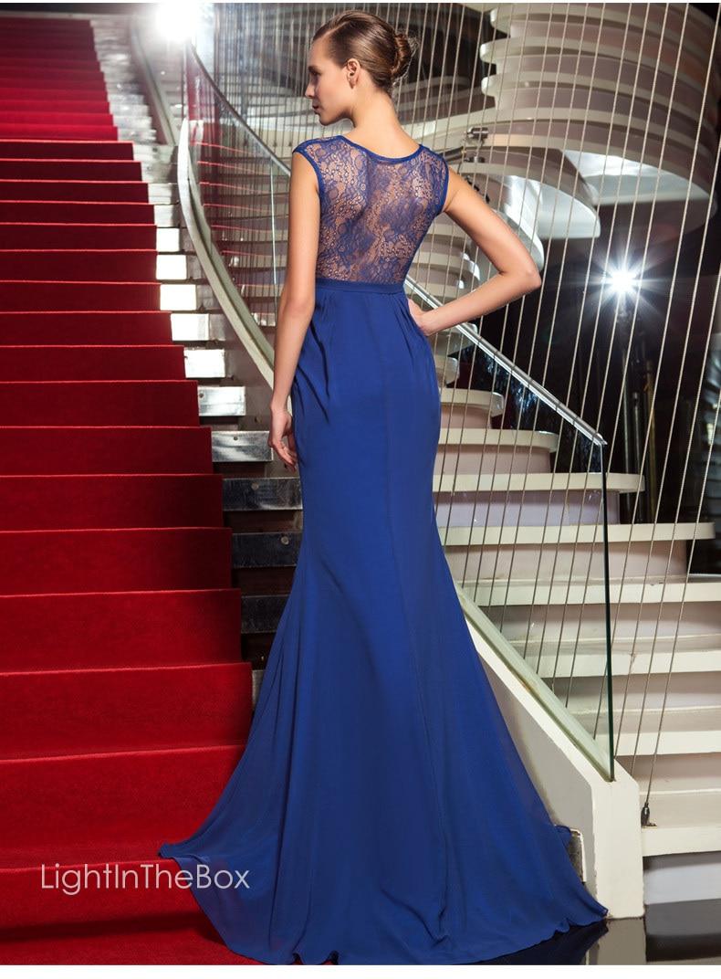Free Shipping Party 2019 New Design Hot Sale Vestido De Festa Longo Blue Chiffon Long Formal Elegant Mother Of The Bride Dress