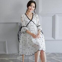 Verano chifón embarazada madre Casual media manga suelta gran tamaño maternidad vestido mujeres embarazadas ropa bordado