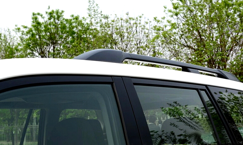 Top Roof Rack Rails Bars Luggage Carrier Black For Toyota Prado Land Cruiser 150 FJ150 2010-2018 exterior car styling metal silver luggage carrier roof rack rails bar trim for toyota land cruiser prado j150 2010 2018