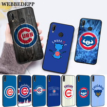 WEBBEDEPP Chicago Cubs Baseball Silicone Case for Huawei P8 Lite 2015 2017 P9 2016 Mimi P10 P20 Pro P Smart 2019 P30