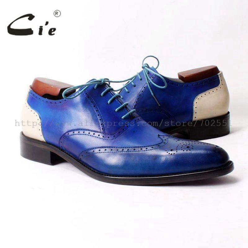 cie Free Shipping Custom Handmade  Bespoke Lacing  Patina Calf Leather Upper Inner Outsole Men's Classic Oxford Color Brown Shoe союз м искусственная кожа patina 340 екатеринбург