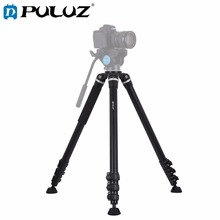 PULUZ 4-Section Folding Legs Metal Tripod Mount for DSLR / SLR Camera, Adjustable Height: 97-180cm