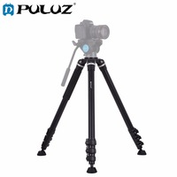 PULUZ 4 Section Folding Legs Metal Tripod Mount for DSLR / SLR Camera, Adjustable Height: 97 180cm