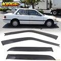 For 88-91 Honda Civic Sedan DX LX Sun Rain Window Visor Dark Smoke Slim Style 4PC
