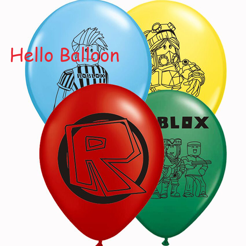12pcs/lot Roblox Latex Balloons Birthday Party Decorations Globos Kids Toys Baby Shower Supplies Roblox Balloon