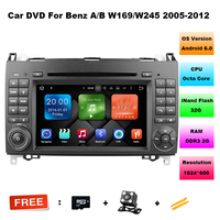 Octa Core 2 Din 7 Android 6 01 Car DVD Player For Benz B200 W169 W245