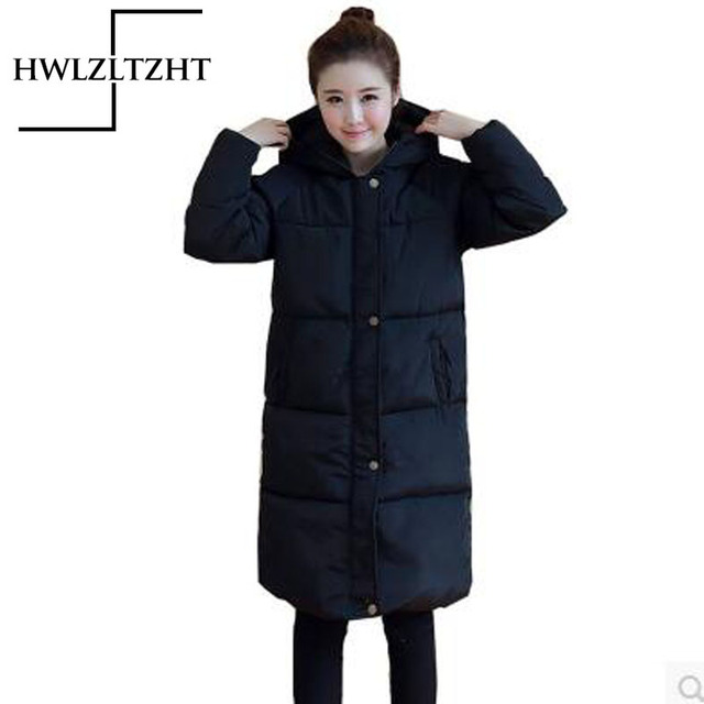 455ad288371 New Thickening Women's Winter Jacket Down Parka Warm Hooded Solid Plus SIze jacket  women's winter Coat