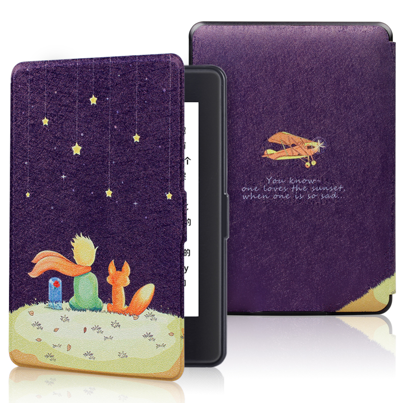 Smart Case For Amazon Kindle Paperwhite 1 2 3 PU Leather Print Flip Cover Fit All Kindle Paperwhite Generations Prior To 2018