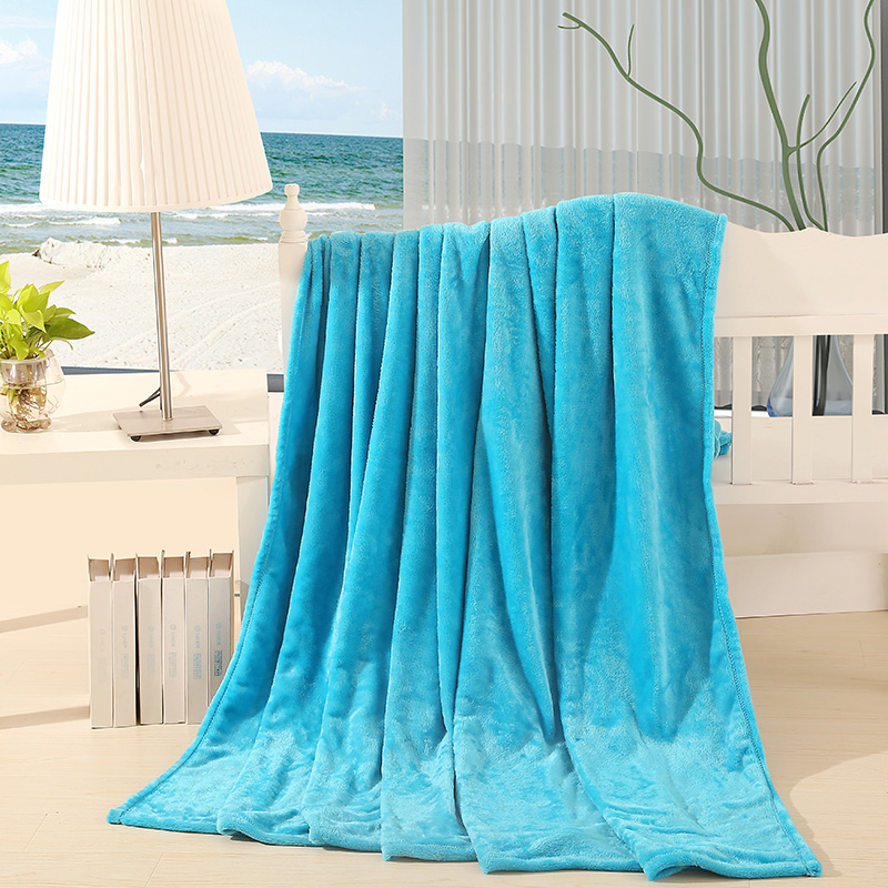 180*200cm Super Soft Luxurious Micro Plush Flannel Blanket Different Colors  Sofa/air/bedding Throw Weight 1.5kg