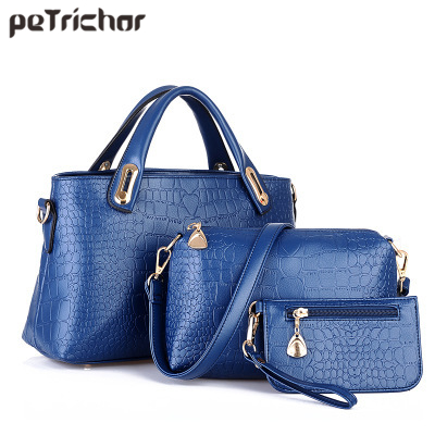 Large Capacity Composite Set Bag For Women PU Leather Ladies Handbags Female Purse Shoulder Messenger Bags Tote Bolsa Feminina 2017 luxury brand women handbag oil wax leather vintage casual tote large capacity shoulder bag big ladies messenger bag bolsa