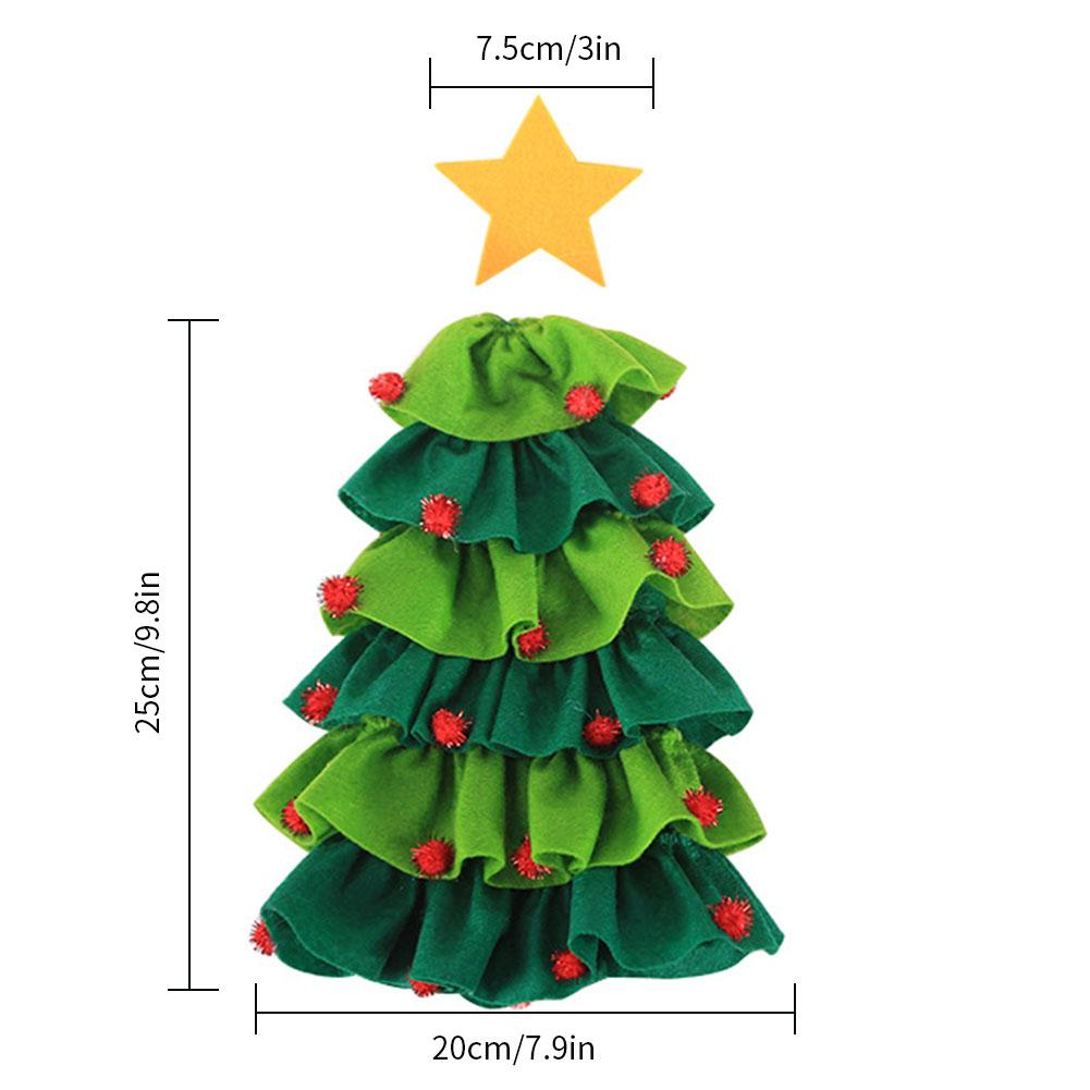 Christmas Wine Bottle Decor Set Christmas Tree Elf Wine Bottle Cover Clothes Kitchen Decoration for New Year Xmas Dinner Party in Pendant Drop Ornaments from Home Garden