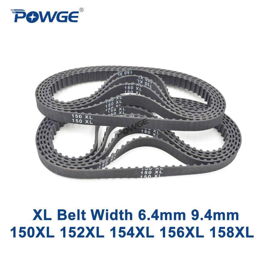 POWGE XL Timing belt 150/152/154/156/158 Width 025 6.4mm 037 Teeth 75 76 77 78 79 Synchronous Belt 150XL 152XL 154XL 156XL 158XLPOWGE XL Timing belt 150/152/154/156/158 Width 025 6.4mm 037 Teeth 75 76 77 78 79 Synchronous Belt 150XL 152XL 154XL 156XL 158XL
