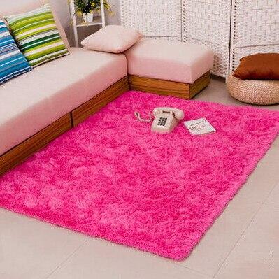 Épais 4.5 cm chaud anti-dérapant tapis et tapis pour salon chambre plancher personnalisé Shaggy chambre tapis - 4