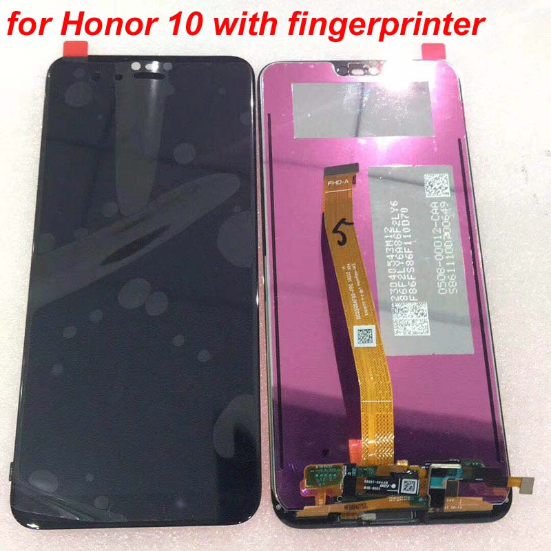 100 Original Tested New For 5 84 Huawei Honor 10 COL L29 LCD Display Touch Screen 100% Original Tested New For 5.84' Huawei Honor 10 COL-L29 LCD Display +Touch Screen Digitizer Assembly Replacement +fingerprint