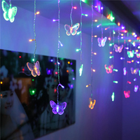 SVELTA 8M6M LED Butterfly Curtain Fairy Lights Gerlyanda Decorative LED Garland Christmas Lights For Party Holiday Decoration