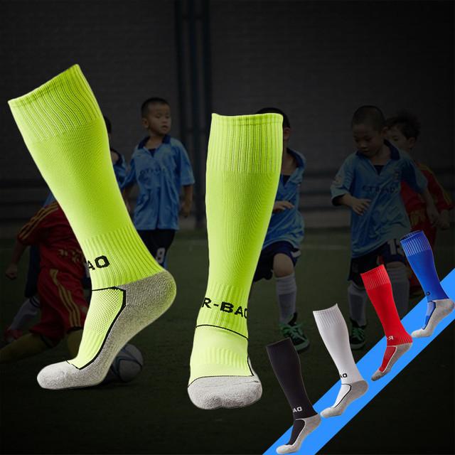 Towel Bottom Children Football Socks Boys Soccer Sock Kid's Above Knee Plain Socks Long Soccer Men Over Knee High Sock Baseball