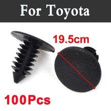 100pcs 19.5mm Hole Car Styling Plastic Rivets Fastener Clips Black For Toyota  Mark Ii X Mirai Mr2 Mr S Opa Passo Platz Premio