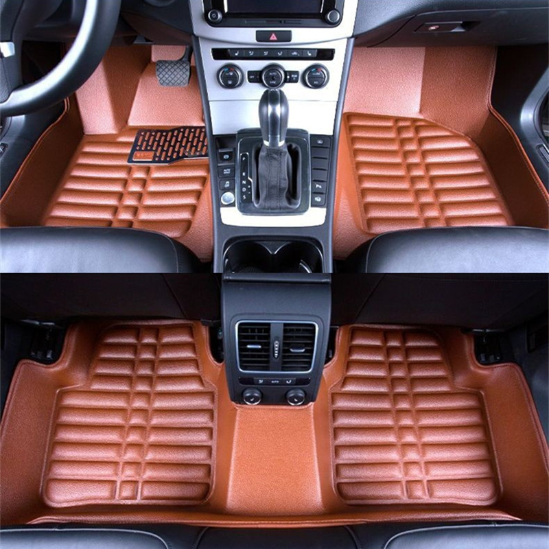 Car Floor Mats Covers top grade anti-scratch fire resistant durable waterproof 5D leather mat for Benz Series Car Styling car floor mats covers top grade anti scratch fire resistant durable waterproof 5d leather mat for honda fit car styling