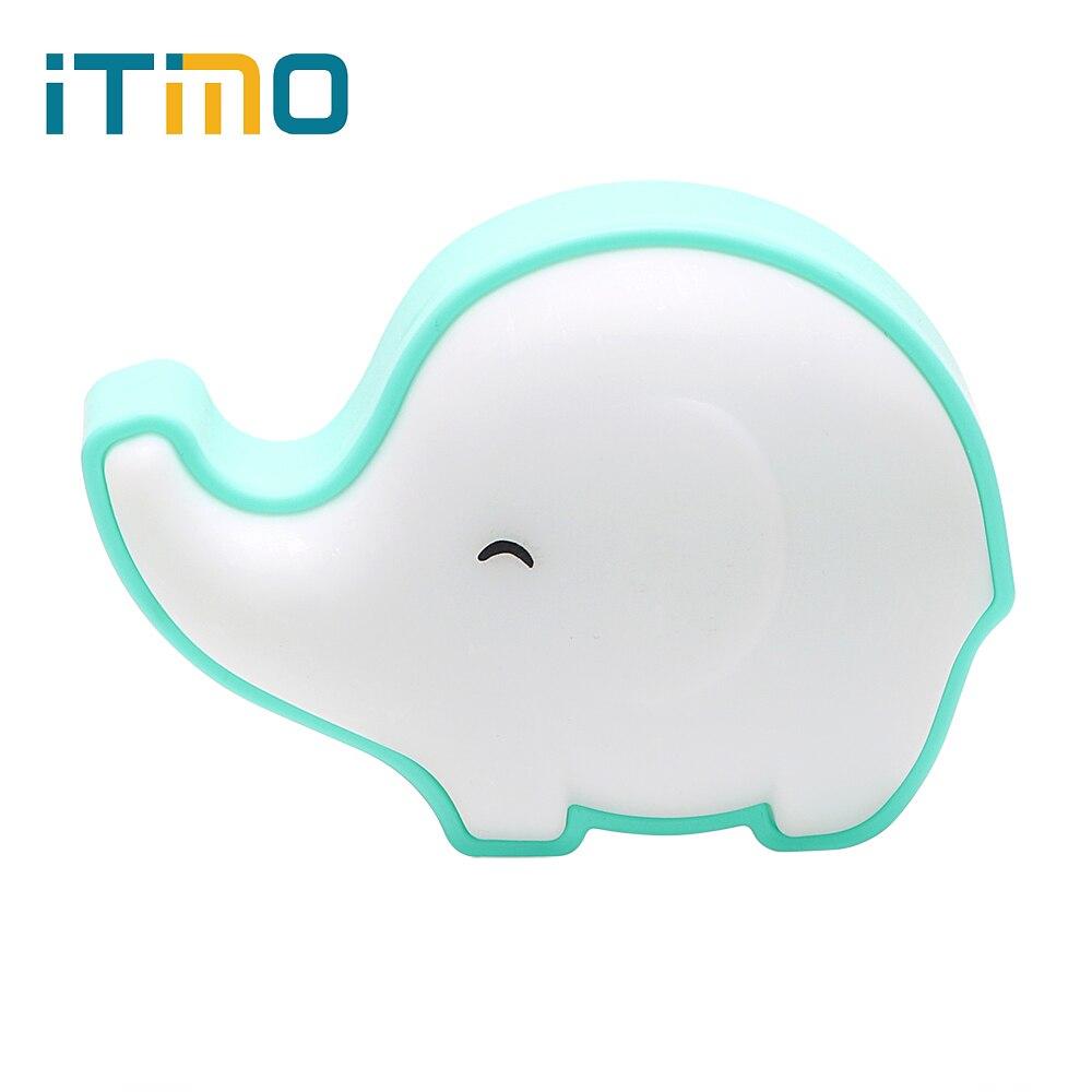 ITimo Elephant US Plug LED Night Lamp Light Sensor Control Baby Home Bedroom Decoration Night Light Indoor Lighting Warm Yellow