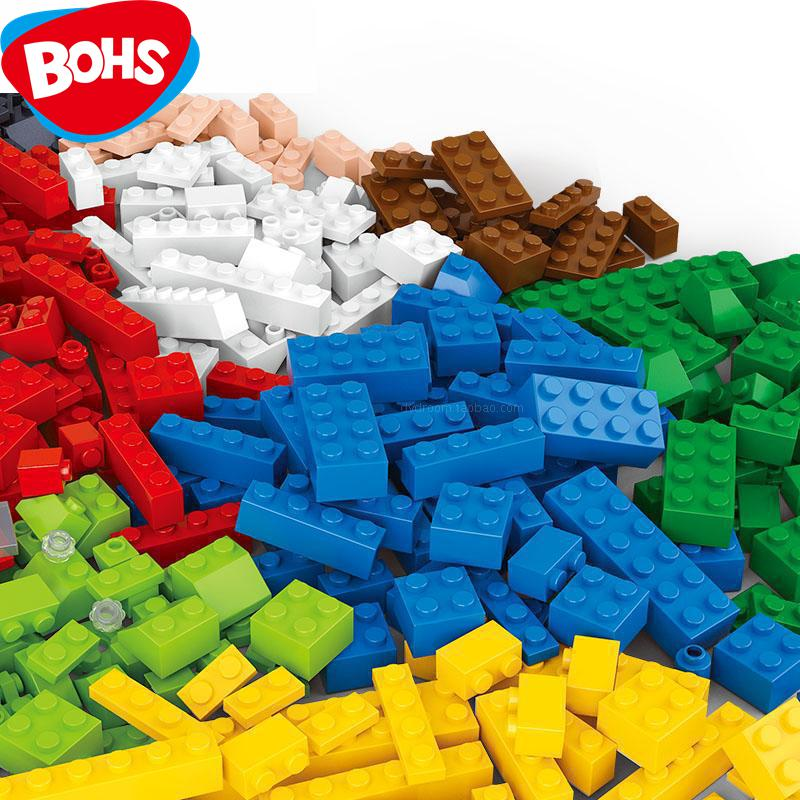 BOHS 415pcs Junior Basic Classic Medium Brick Building Blocks Diy Pink Blue Children Educational Toy Compatible with Top Brand