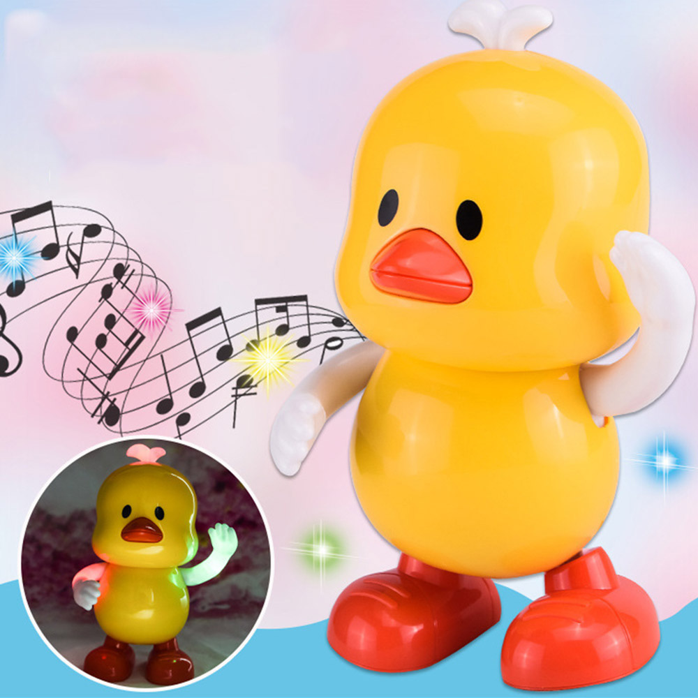 Baby Toys Electric Dance Yellow Duck Kids Early Learning Educational Musical Toys Gifts