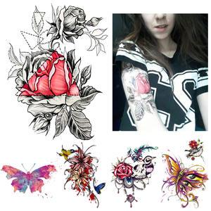 Shop Discount Heart Rose Tattoos
