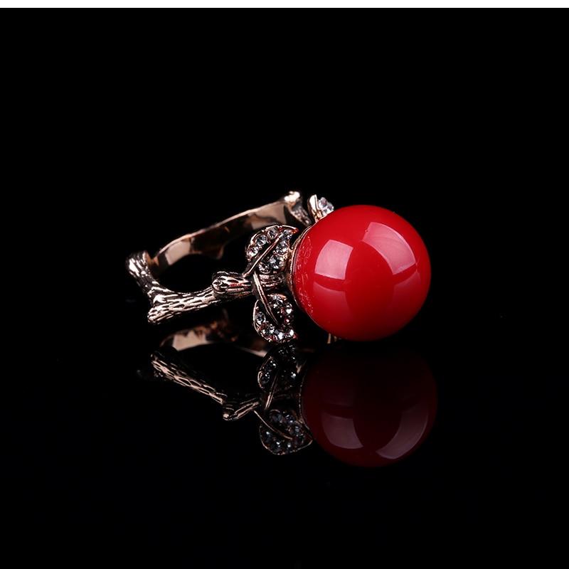 K'S Naprava prirodni umjetni koraljni prsten crveni koraljni prsten - Modni nakit - Foto 4