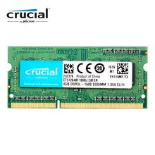 Оперативная память Crucial SO DIMM DDR3 DDR3L 8 ГБ 4 ГБ 1333 МГц 1066 МГц 1600 SODIMM 8 Гб 12800S 1,35 в для памяти ноутбука
