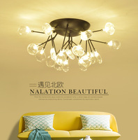 Post modern ceiling lamp fashion Scandinavian living room dining room fire worm ceiling lamp cherry blossom bedroom ceiling lamp