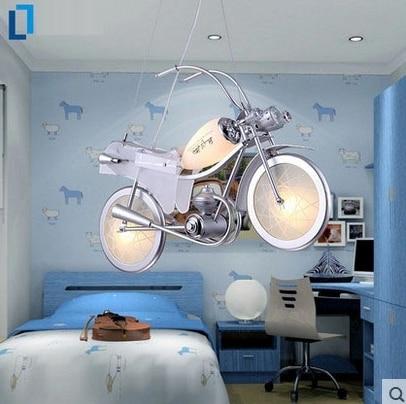 Aluminium motorrad form glas cartoon kronleuchter E14 Glühlampen LED ...
