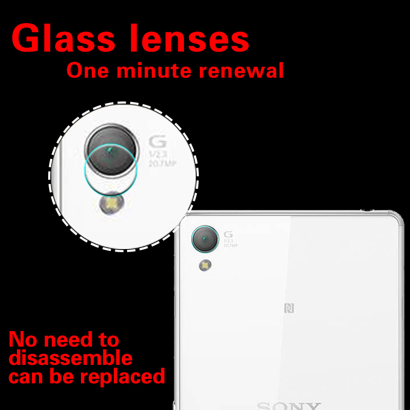 Back Camera Lens Tempered Glass Film For Sony Xperia Z1 Z2 Z4 Z5 glass film for Sony Lvy ...