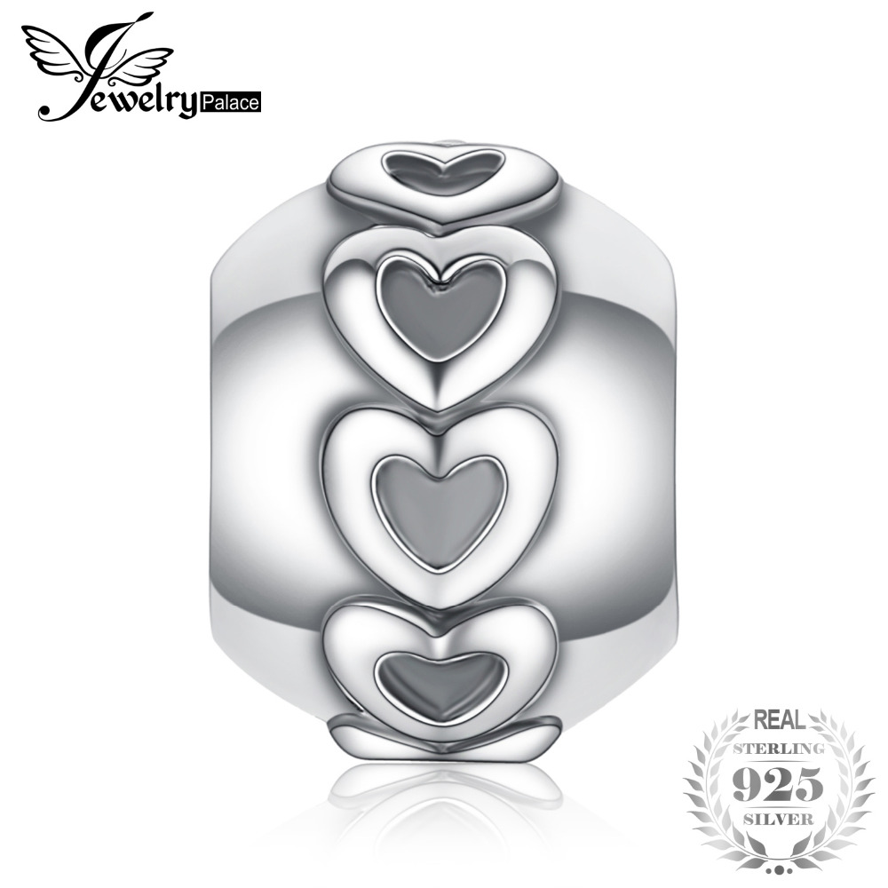Anhänger Jewelrypalace 925 Sterling Silber Endlose Liebe Herz Anschluss Charme Perlen Für Mutter Und Tochter Neue Heißer Verkauf QualitäTswaren