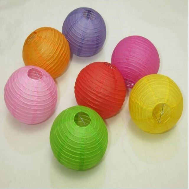 Free Shipping 4 Inch 10cm New Design Small Chinese Paper Lanterns For Wedding Christmas Party Decorations Supplies