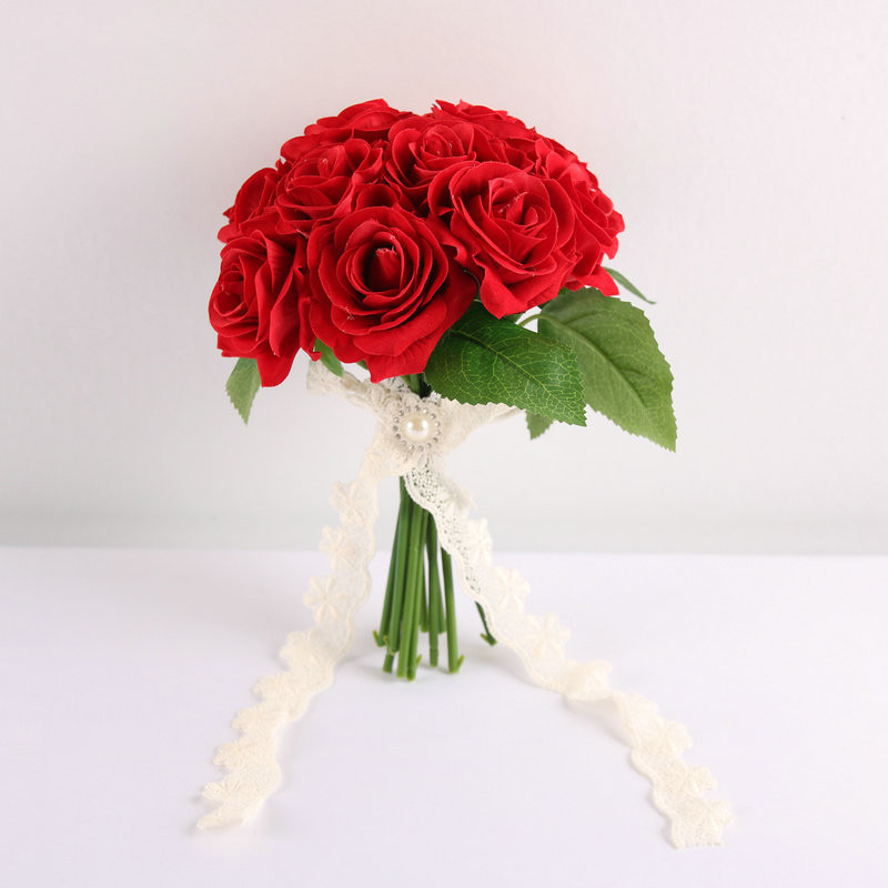 Simple Flower Bouquets For Weddings: Wedding Flowers Bridal Bouquets Lace Artificial Wedding