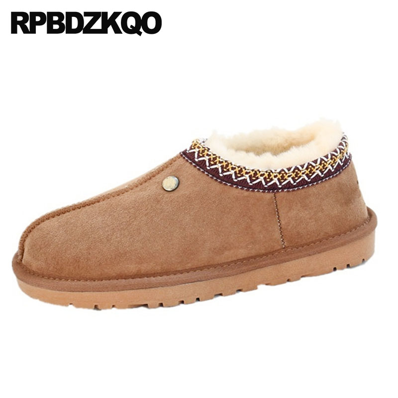 high quality slip on booties australian snow winter embellished shoes real fur boots suede brown plus size short genuine leatherhigh quality slip on booties australian snow winter embellished shoes real fur boots suede brown plus size short genuine leather
