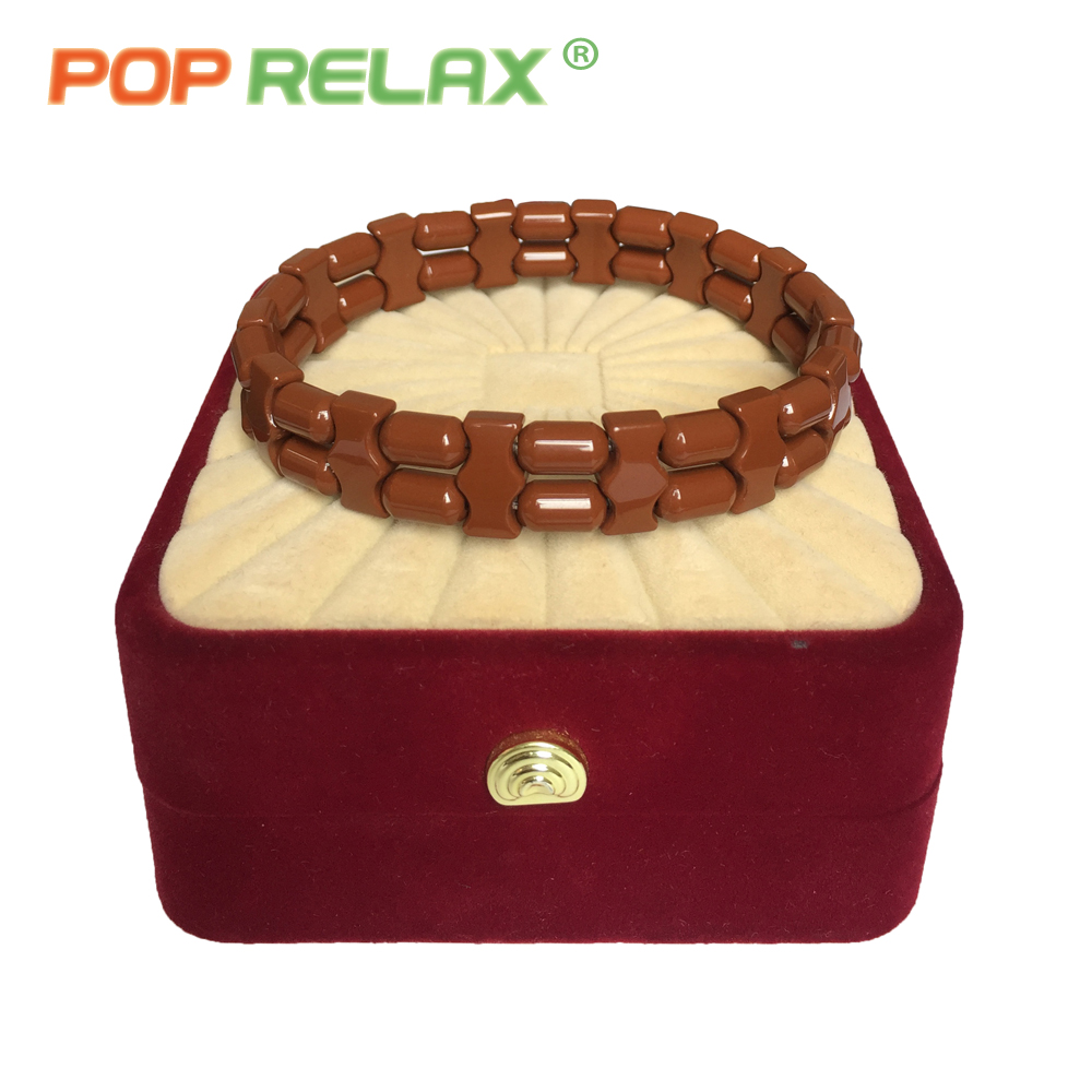POP RELAX health care Korea tourmaline germanium bracelet energy negative anion physical therapy new fashion stone bracelets men pop relax tourmaline health products prostate massager for men pain relief 3 balls germanium stone far infrared therapy heater