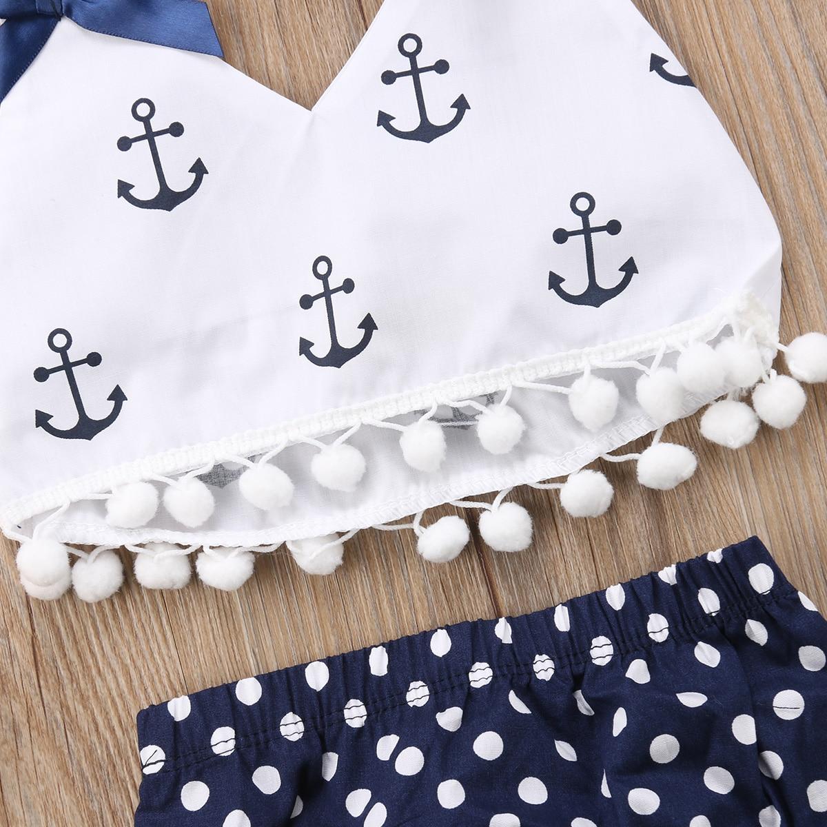 12ff71901768e Baby Girls Anchors Tops Polka Dot Briefs Tessel Bikini Swimwear Swimsuit  Outfits Bathing Suit Beachwear Hot Summer-in Swimwear from Mother   Kids on  ...