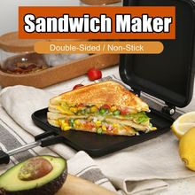 Антипригарная Бутербродница хлеб тост машина для завтрака двухсторонняя вафли блинчики для выпечки барбекю форма для печи сковорода гриль